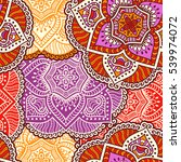 ethnic floral seamless pattern. ... | Shutterstock . vector #539974072