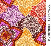 ethnic floral seamless pattern. ... | Shutterstock . vector #539974102