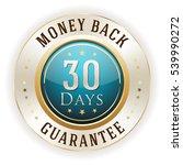 blue 30 days money back badge   ... | Shutterstock .eps vector #539990272