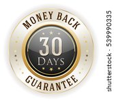 black 30 days money back badge  ... | Shutterstock .eps vector #539990335