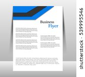 flyer design template vector.... | Shutterstock .eps vector #539995546