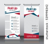roll up business brochure flyer ... | Shutterstock .eps vector #539998342