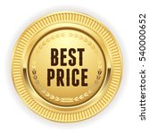 gold best price button   badge...   Shutterstock .eps vector #540000652