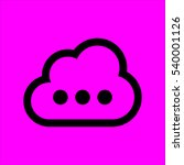 cloud with loading sign icon...