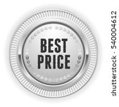 silver best price badge  ... | Shutterstock .eps vector #540004612