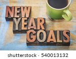 new year goals    word abstract ... | Shutterstock . vector #540013132