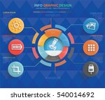 photography info graphic... | Shutterstock .eps vector #540014692