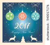 merry christmas and happy new... | Shutterstock .eps vector #540017176