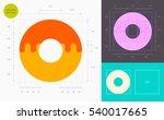donut color icon  golden... | Shutterstock .eps vector #540017665
