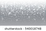 falling realistic snow ... | Shutterstock .eps vector #540018748