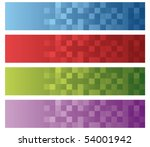 set of four rounded squares... | Shutterstock .eps vector #54001942