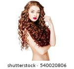 beautiful people. curly hair.... | Shutterstock . vector #540020806