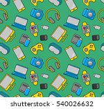 mobile gadgets and devices...   Shutterstock .eps vector #540026632