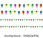 decorative christmas lights... | Shutterstock .eps vector #540026956