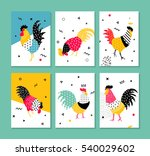a set of cards for the holidays ... | Shutterstock .eps vector #540029602