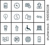 set of 16 traveling icons.... | Shutterstock .eps vector #540030238