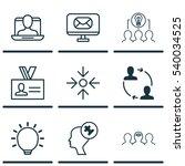 set of 9 business management... | Shutterstock .eps vector #540034525