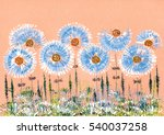 colorful gouache  ink and... | Shutterstock . vector #540037258