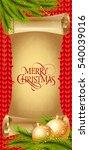 merry christmas lettering on... | Shutterstock .eps vector #540039016