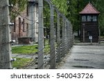 Barbed Wire Tower At...