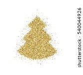 gold glitter christmas tree ... | Shutterstock .eps vector #540044926
