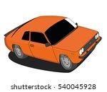Classic Car Orange Vector...