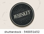beverage coaster for glass with ... | Shutterstock .eps vector #540051652