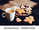 beautiful christmas background... | Shutterstock . vector #540052366