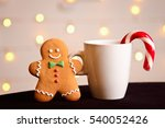 gingerbread man with candy... | Shutterstock . vector #540052426