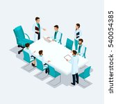 set isometric health care... | Shutterstock .eps vector #540054385