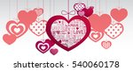 paper hanging hearts isolated... | Shutterstock .eps vector #540060178