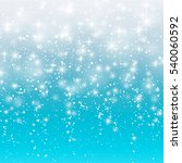 falling snow on a blue... | Shutterstock . vector #540060592