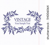 vintage background | Shutterstock .eps vector #54006064