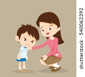 young teacher consoling angry... | Shutterstock .eps vector #540062392