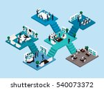 isometric icon of many storey... | Shutterstock .eps vector #540073372