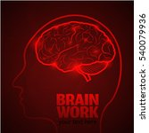human brain logo neurology... | Shutterstock .eps vector #540079936