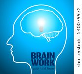 human brain logo neurology... | Shutterstock .eps vector #540079972