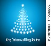 shining new year tree made of... | Shutterstock .eps vector #540080002