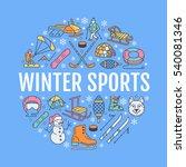 winter sports banner  equipment ...   Shutterstock .eps vector #540081346