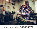 young manual worker working... | Shutterstock . vector #540083872