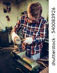 young manual worker working... | Shutterstock . vector #540083926