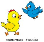 chick and sparrow | Shutterstock .eps vector #5400883
