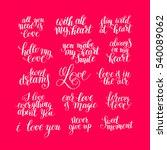 set of handwritten lettering...   Shutterstock .eps vector #540089062