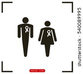man and woman with awareness... | Shutterstock .eps vector #540089995