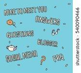 hand drawn lettering for... | Shutterstock .eps vector #540090466