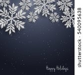 vector christmas new year... | Shutterstock .eps vector #540095638