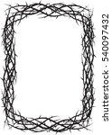 frame of thorns  crown of... | Shutterstock .eps vector #540097432