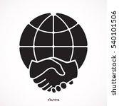 flat vector image of a globe... | Shutterstock .eps vector #540101506