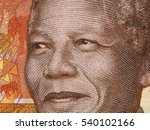 Small photo of Nelson Mandela portrait on South African money 20 rand banknote close up. Leader of African people and former president of South Africa, Nobel Prize Winner.