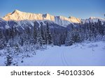 winter alpenglow reflected off... | Shutterstock . vector #540103306